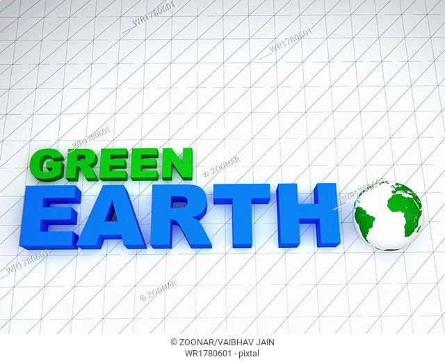 3d earth green