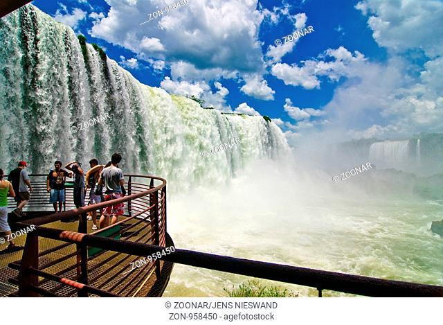 Iguazu Wasserfälle, Iguazu Wasserfälle near Foz do Iguaçu, Paraná, Brazil