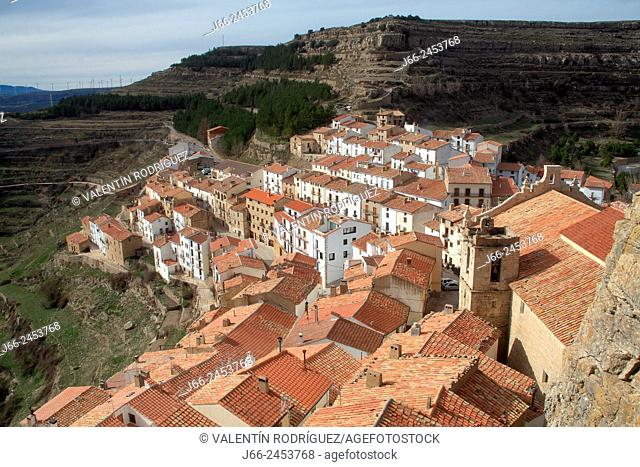 View of the village of Ares del Maestre. Maestrazgo region. Castellón. Spain