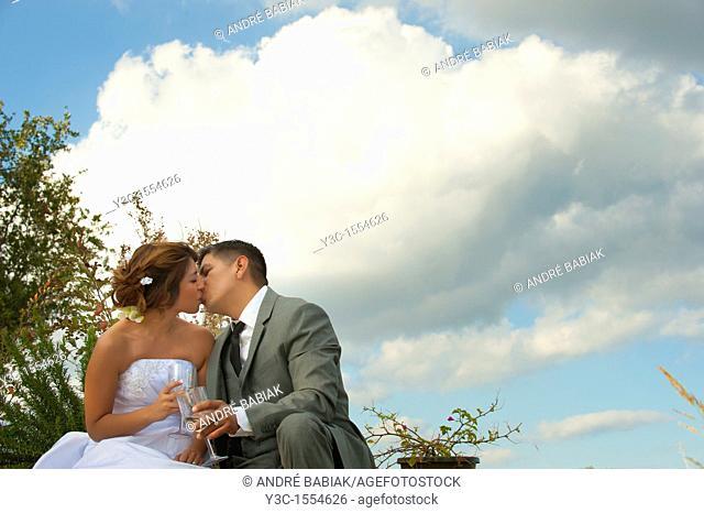 Bride and Groom Newlyweds