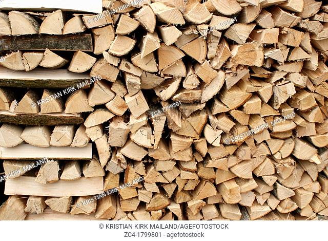 Stack of cutted timber