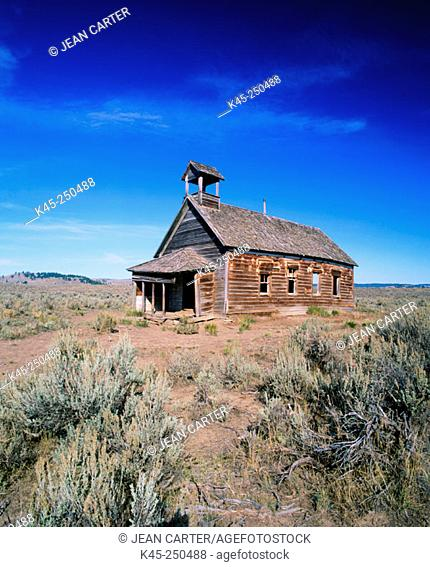 Old Silvies Schoolhouse on the Ponderosa Ranch, Central Oregon, USA