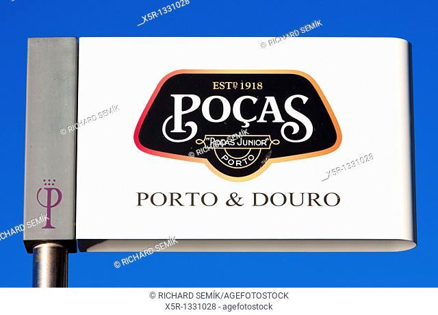 sign of Porto wine producer, Porto, Douro Province, Portugal