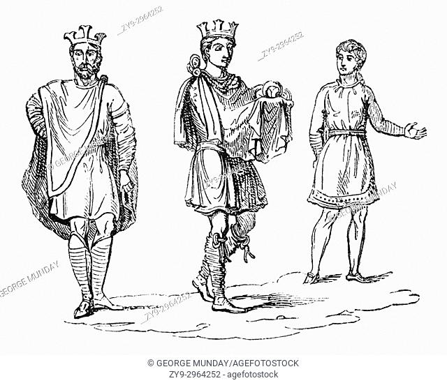 The Civic costume including a crown of Anglo Saxon Royalty in the 9th Century