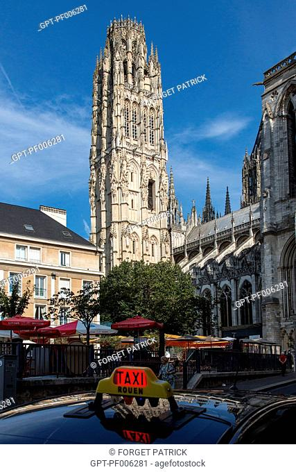 THE BUTTER TOWER, WHICH INSPIRED THE TRIBUNE TOWER OF CHICAGO, NOTRE-DAME CATHEDRAL OF ROUEN (76), FRANCE