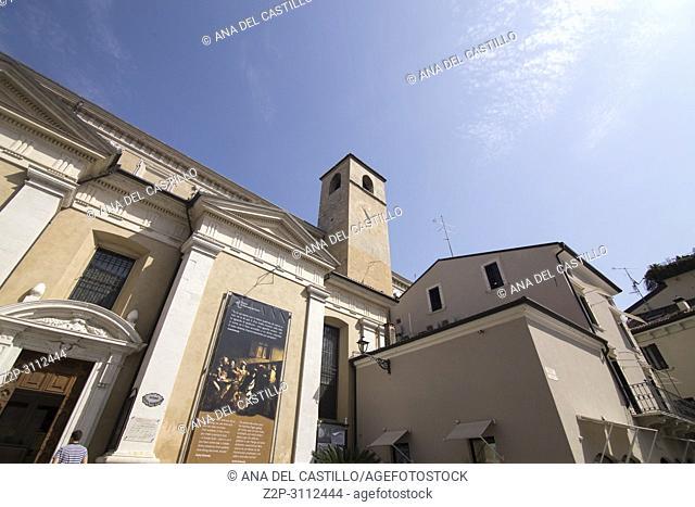 DESENZANO DI GARDA ITALY: The Duomo cathedral at old town on April 28, 2018 in Garda lake Italy