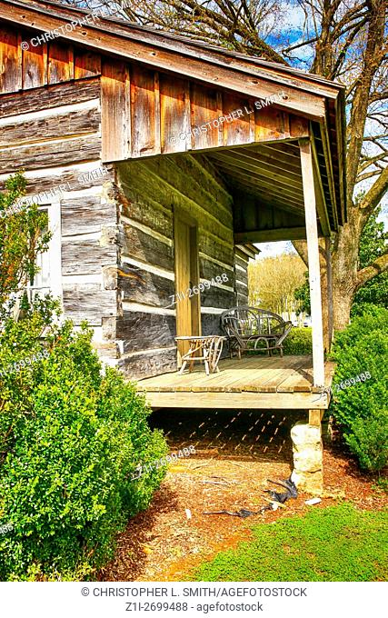 """The wooden cabin, birthplace of W. C. Handy, the """"""""Father of the Blues"""""""", in Florence, Alabama"""