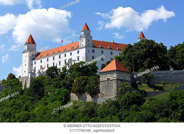 Slovak Republic, Slovakia, Bratislava, Capital City, Danube, Little Carpathians, Bratislava Castle on the castle hill, baroque