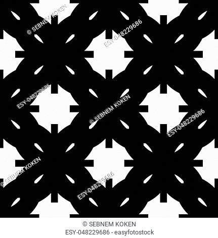 Seamless geometric black and white abstract pattern