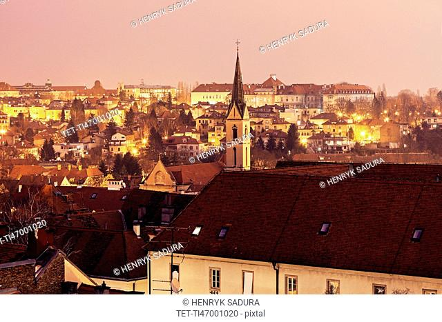 Cityscape with Franciscan Monastery at dawn