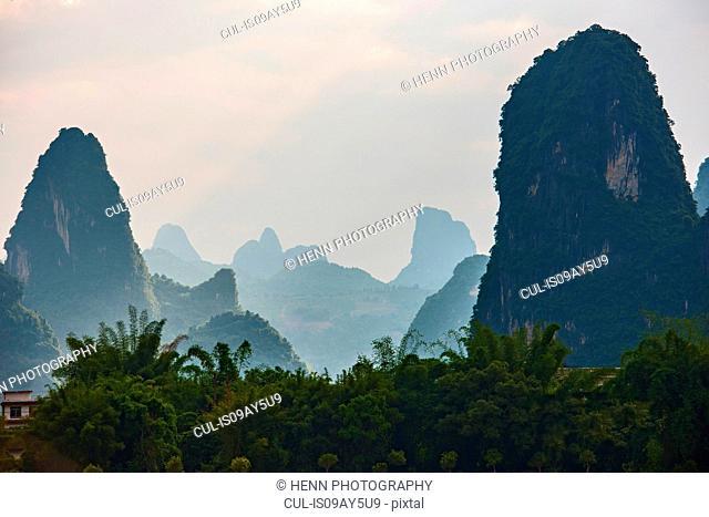 Karst mountain at Guangxi province, China
