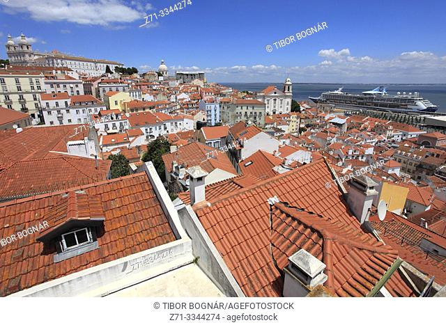 Portugal, Lisbon, Alfama, skyline, general view, panorama,