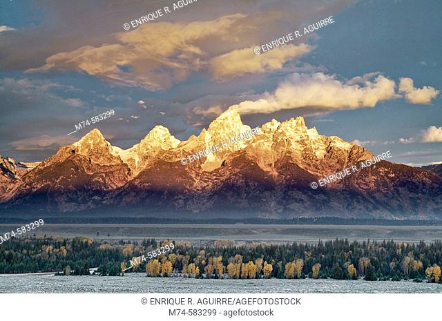 Teton's Cathedral group at sunrise