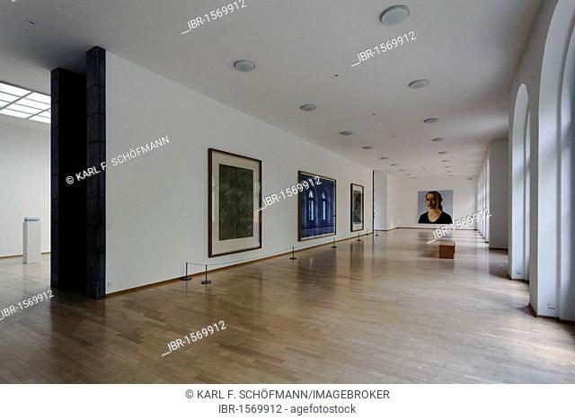 Exhibition space with modern art in the Kurhaus Kleve art museum, Kleve, Niederrhein region, North Rhine-Westphalia, Germany, Europe