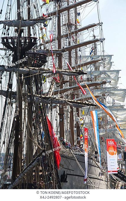 sailboats during Sail 2015 in Amsterdam