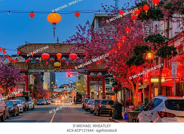 Gate of Harmonious Interest, Fisgard Street, Chinatown, Victoria, British Columbia, Canada