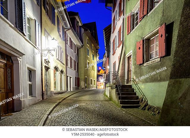 Laufenburg on Rhine River, Canton Aargau, Switzerland