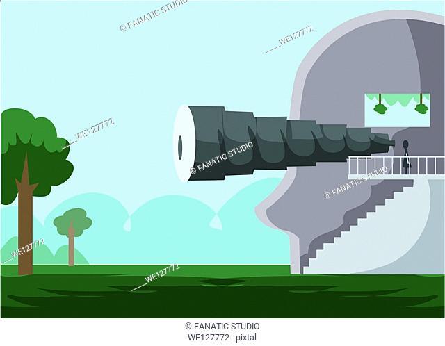 Illustrative image representing visual system