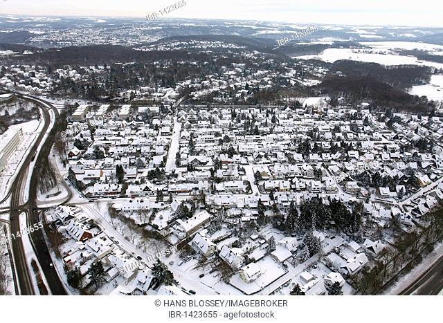 Aerial photo, Bredeney, Oberstadt, Essen, Ruhr Area, North Rhine-Westphalia, Germany, Europe