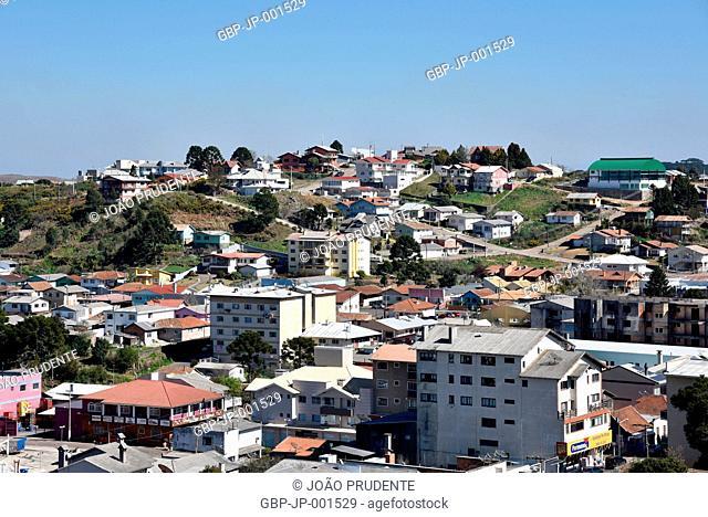 View from above, City, 2017, Sao Joaquim, Santa Catarina, Brazil