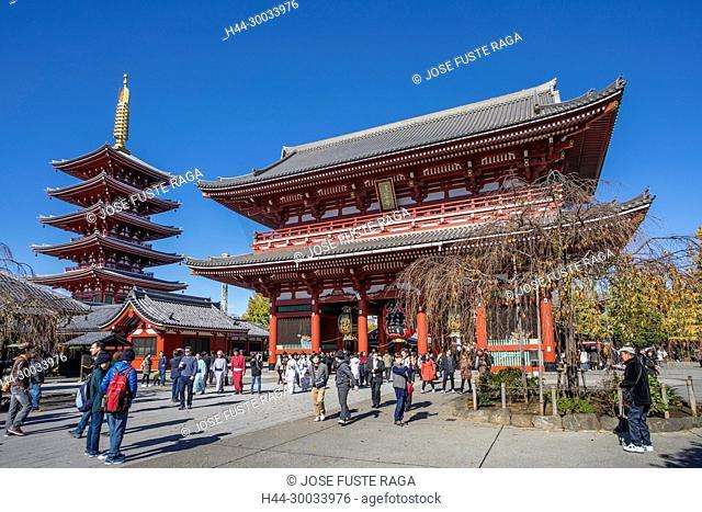 Japan , Tokyo City, Asakusa District, Sensoji Temple, Nakamise Street