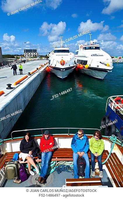 Aran Ferries  Kilronan Port  Inishmore Island, Aran Islands, Galway County, West Ireland, Europe