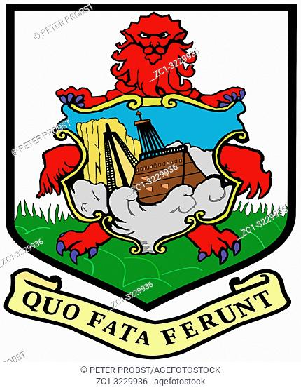 Coat of arms of the British overseas territory Islands of Bermuda