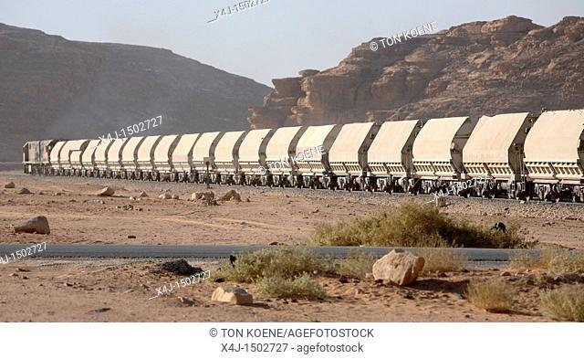train in the Jordanian desert near petra city