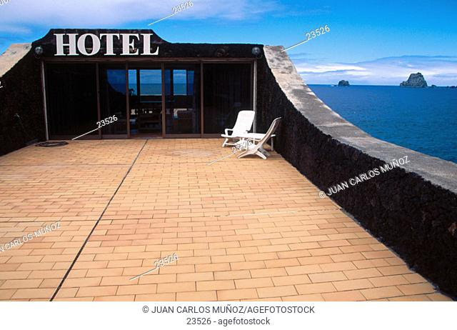 Terrace of hotel. El Hierro. Canary Islands. Spain