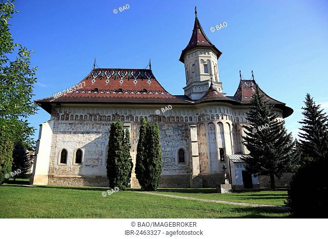 Mitropoliei, Monastery of St. Gheorghe, Biserica Sf. Gheorghe Mirauiti, Church of Saint George,in Suceava, UNESCO World Heritage Site, Romania, Europe