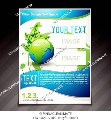 vector eco friendly brochure flyer template illustration