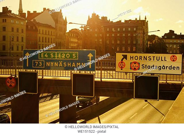 Urban landscape at dawn, Stockholm, Sweden, Scandinavia