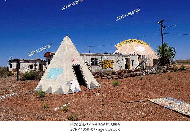 Meteor City Trading Post Ruins,Arizona,Route 66