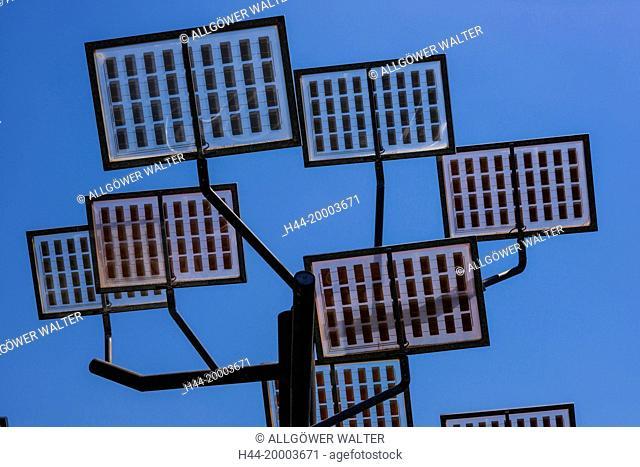 solar panels, Solarbaum, Ulmer Wohnviertel Solar City, Ulm