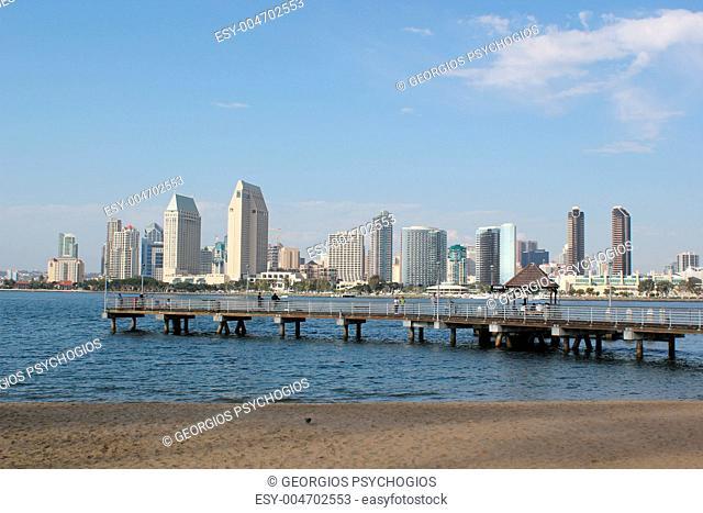 San Diego downtown-3 and Coronado Island Ferry Wharf