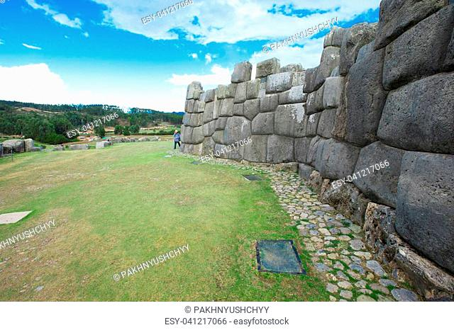 Sacsayhuaman : Inca archaeological site in Cusco, Peru