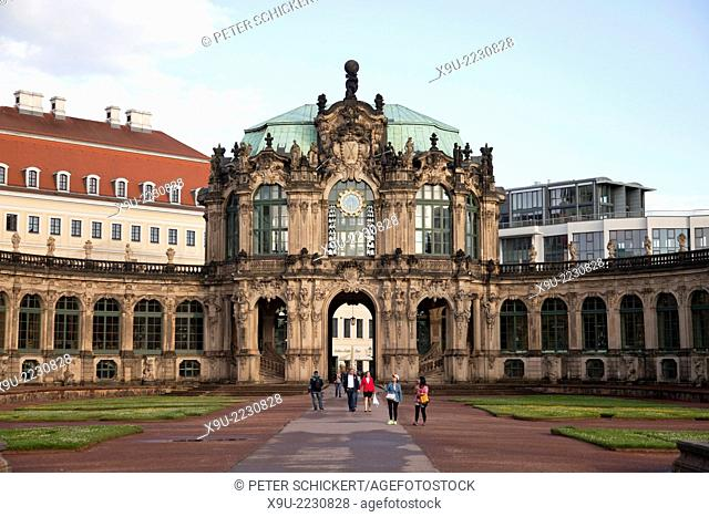 Wallpavillon at the Zwinger in Dresden, Saxony, Germany, Europe