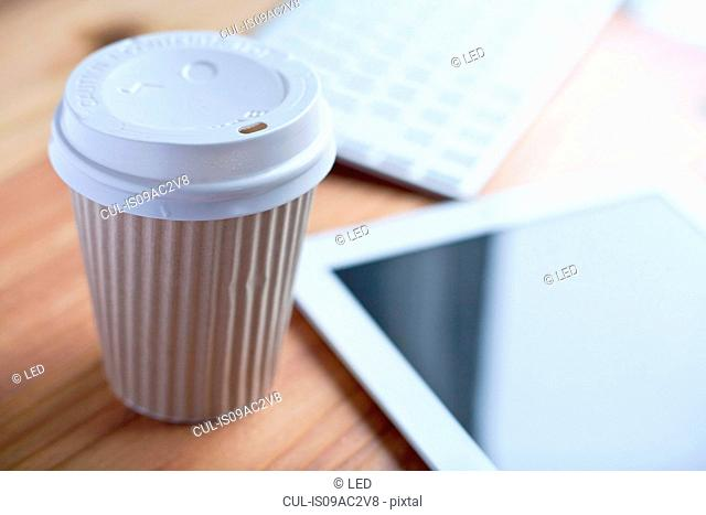 Coffee and digital tablet