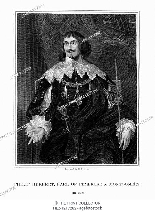 Philip Herbert, 4th Earl of Pembroke, courtier and politician, (1828). Herbert (1584-1650) was governor of the Isle of Wight and Chancellor of the University of...
