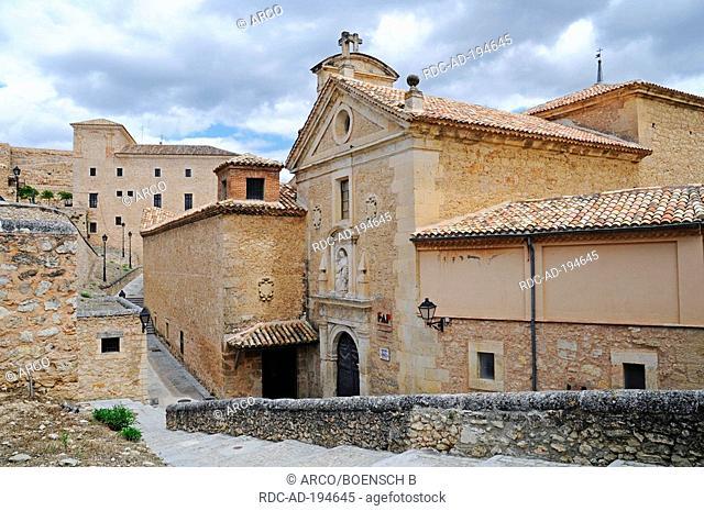 Convent in centre of art, former abbey, Cuenca, Castilla-La Mancha, Spain, Convento de las Carmelitas Descalzas, Fundacion Antonio Perez