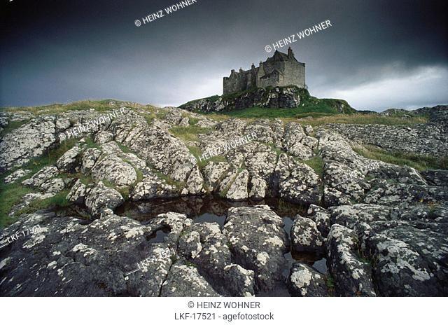 Ruins of Duart Castle, Isle of Mull, Inner Hebrides, Scotland, Great britain