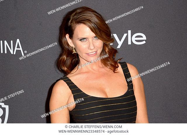 InStyle and Warner Bros 73rd Annual Golden Globes after party at the Beverly Hilton Hotel Featuring: Amy Landecker Where: Los Angeles, California