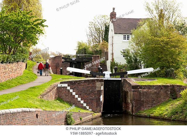 Locks on the Stourbridge Canal at Wordsley, Dudley, West Midlands