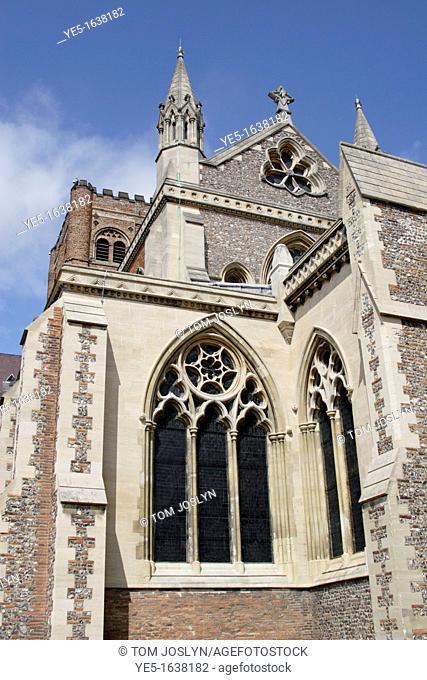 St Albans cathedral , Hertfordshire , England , UK