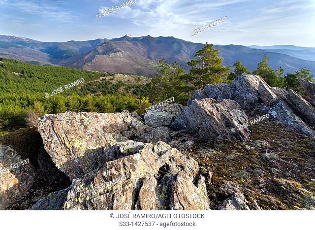 Sierra Norte from Bañaderos hill  Madrid  Spain