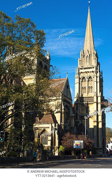 Our Lady of English Martyrs is a big gothic revival Catholic church in Cambridge, England, UK