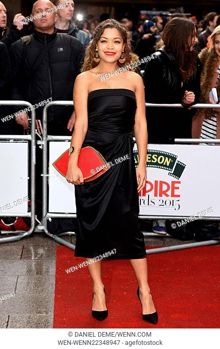 Jameson Empire Film Awards held at the Grosvenor House - Arrivals. Featuring: Antonia Thomas Where: London, United Kingdom When: 29 Mar 2015 Credit: Daniel...