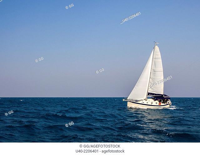 Belize, sailboat at sea
