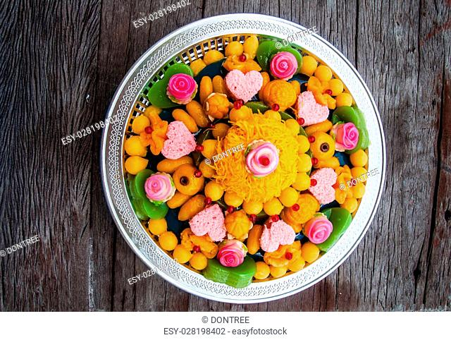 Thai dessert use for wedding ceremony with auspicious name and good meaning
