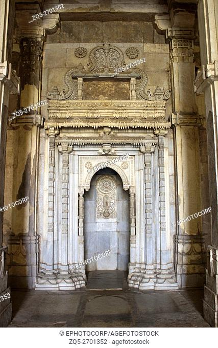 Mihrab - qibla wall detail. Jami Masjid or Mosque. Champaner Pavagadh Archaeological Park. UNESCO World Heritage Site. Gujarat. India